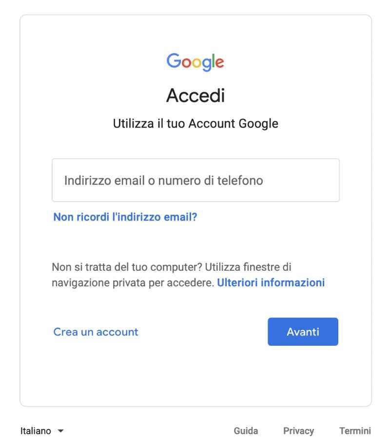 Login google my business